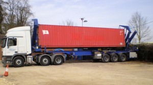 Container leaves UK